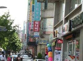 韩国狎鸥亭一条街